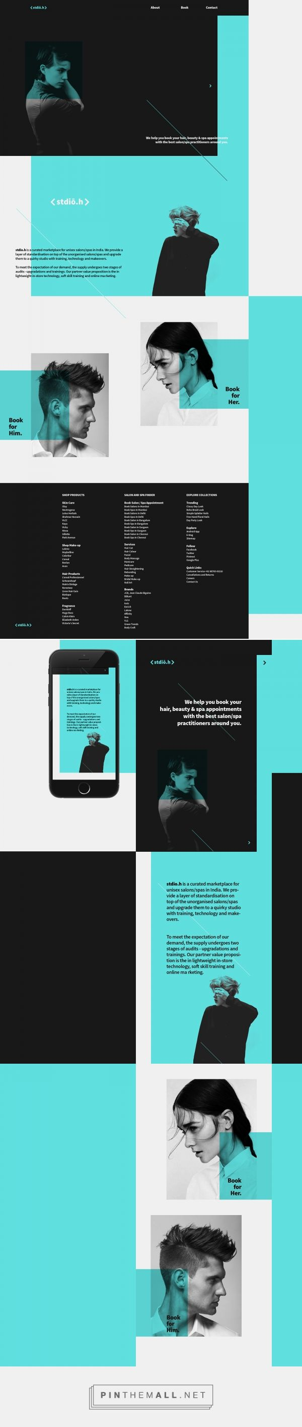 stdioh salon web design by utkarsh raut
