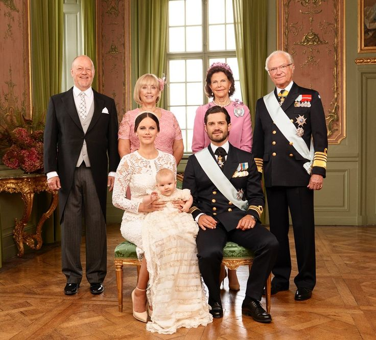 The Swedish royal court has released the official portraits from Prince Alexander's christening