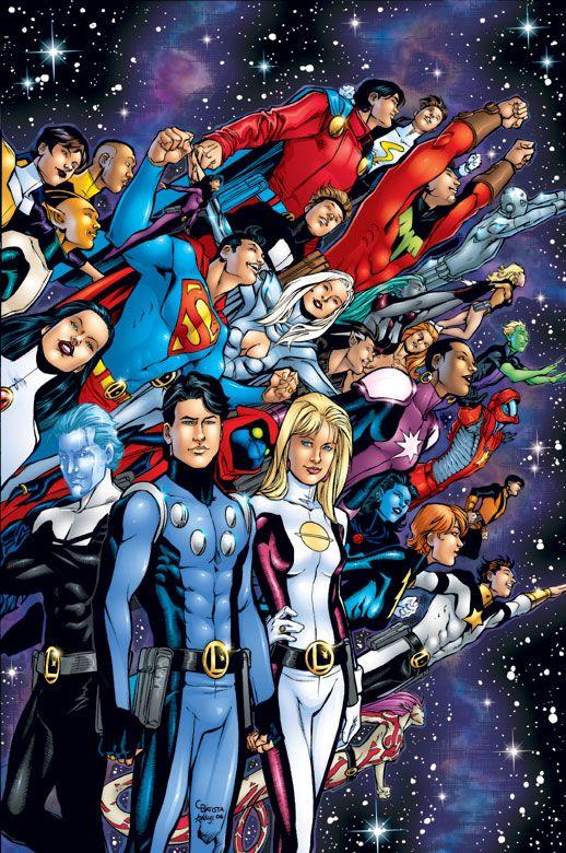 Legion of Super-Heroes.  Art by Chris Batista.