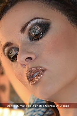 Post - Smokey eye is a passion!  by Giorgia Di Giorgio  In questo makeup sono stati utilizzati i prodotti della linea Stefania D'alessandro e i nuovissimi glitter, già in vendita sul sito.