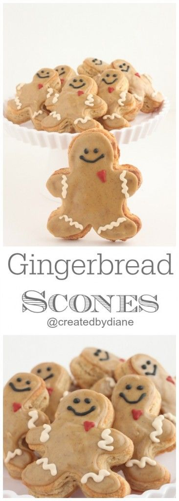 Gingerbread Scones lightly flavored with molasses and spices! By @createdbydiane Absolutely gorgeous and Delicious! #christmas #scones #gingerbread