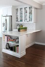Image result for barnboard gray u shaped kitchen with island