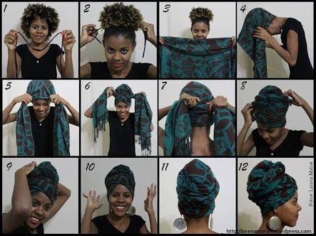 turbantes africanos passo a passo - Google Search