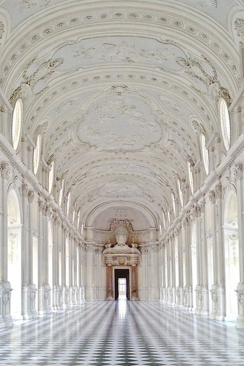 Palace of Venaria- Turin, Italy - a former royal residence was designed and built around 1675. Included in the UNESCO Heritage List.