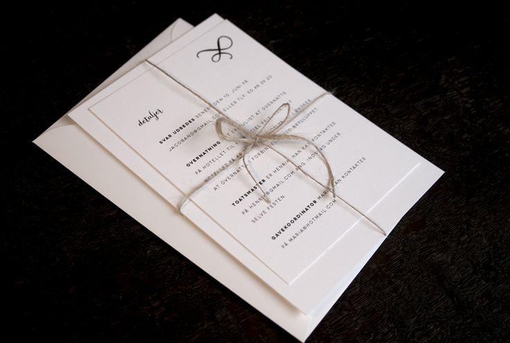 bryllupsinvitationer rustik kalligrafi - invitation og detaljer 2