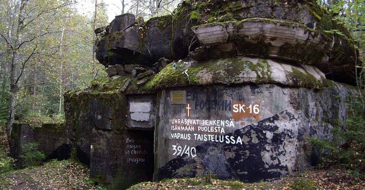 In the forests of Russia's Karelia are the decaying remnants of concrete bunkers. They stretch in a line from the Gulf of Finland to Lake Ladoga. This was