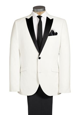 White Tuxedo Slim Fit Suit