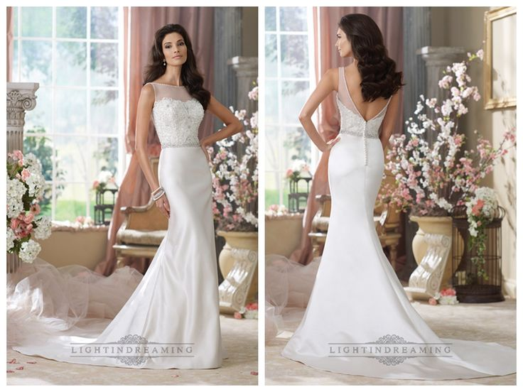 Illusion Bateau Neckline Embroidered Mermaid Wedding Dresses with Deep   V-back http://www.ckdress.com/illusion-bateau-neckline-embroidered-mermaid-  wedding-dresses-with-deep-vback-p-439.html  #wedding #dresses #dress #lightindream #lightindreaming #wed #clothing   #gown #weddingdresses #dressesonline #dressonline #bride