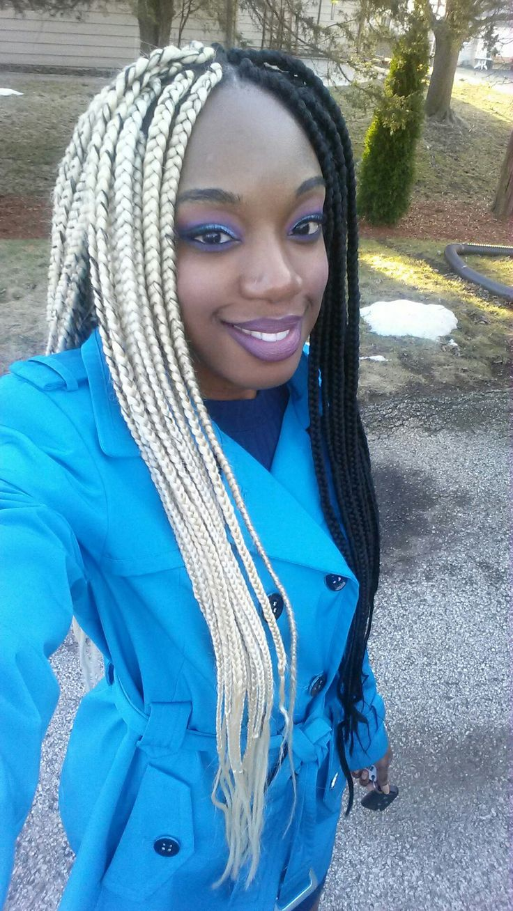 Two tone box braids Box braids, Braids, Colored braids