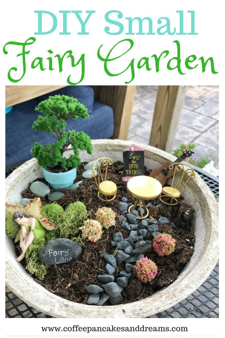 Diy Small Fairy Garden In A Pot In 2020 Kids Fairy Garden Fairy Garden Diy Fairy Garden