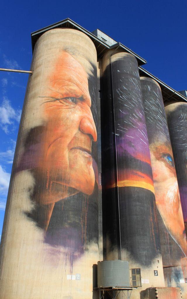 Ron Mark's profile on a Sheep Hills silo