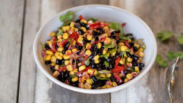 Recipe: Easy black bean and corn salad from Peplers, Te Kauwhata | Stuff.co.nz