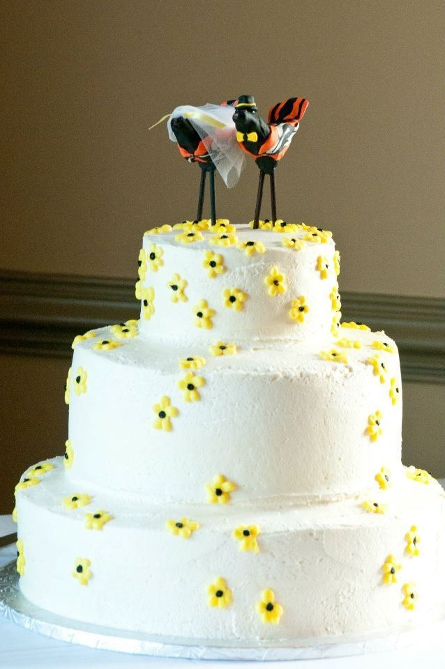orioles cake topper from my wedding cake ocean city md orioles magic pinterest. Black Bedroom Furniture Sets. Home Design Ideas