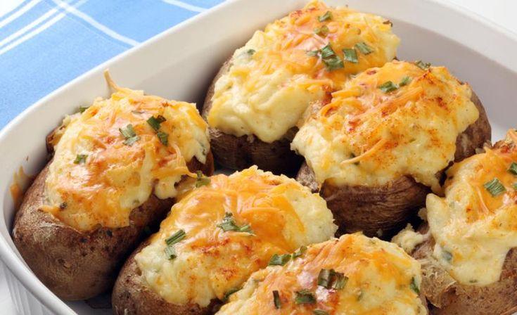 Πατάτες+γεμιστές+με+κοτόπουλο+και+τυρί