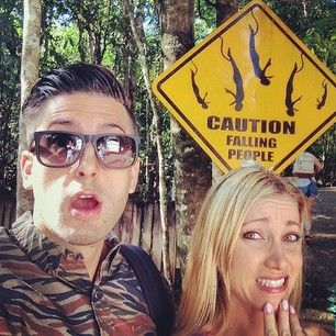 Jesse and Jeana Went bungee jumping for the first time in Australia.