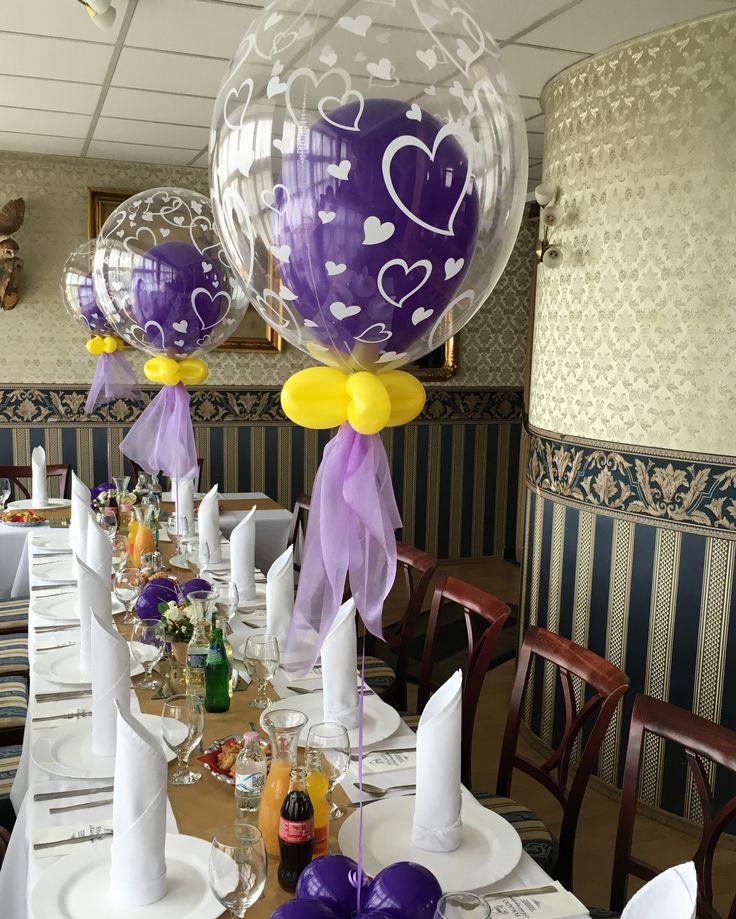 Születésnapi lufi asztaldekoráció.  #lufi #szülinap #dekoráció #balloon #qualatex #birthday #bubble