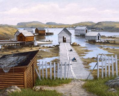 """""""Farmers Arm"""" Twillingate by Ted Stuckless"""
