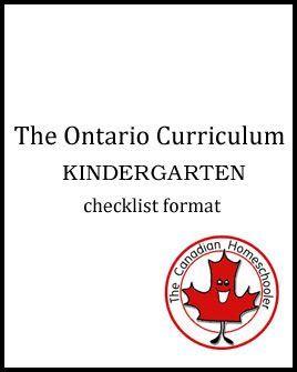 Ontario Checklists - Kindergarten