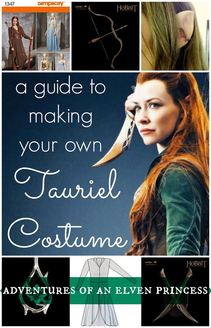 A Guide to Making Your Own Tauriel Costume on Adventures of An Elven Princess. This tutorial series would be an excellent start for any elf in the making.