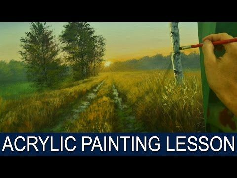 Acrylic Painting Lesson | Morning on Road by JM Lisondra - YouTube