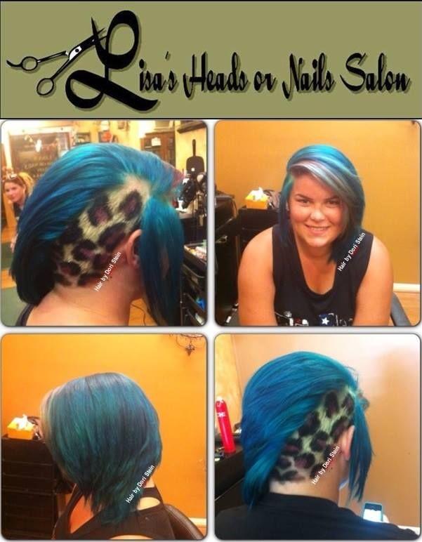 leopard hair. hair ideas vivid