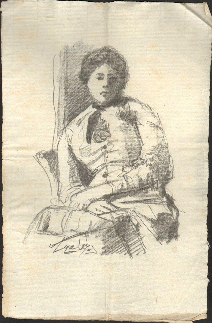 Silvestro Lega 1826-1895 - Ritratto di Paola Bandini