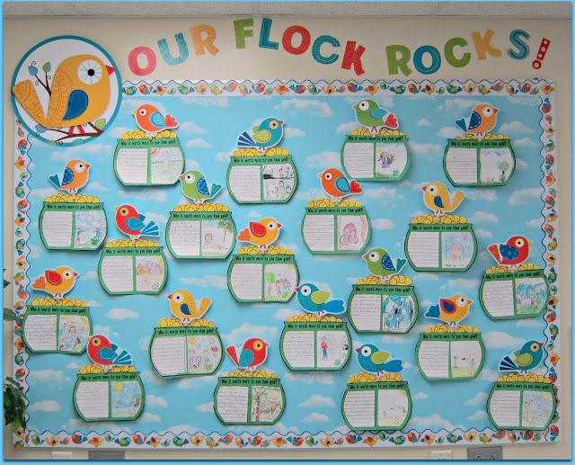 second grade welcome back to school bulletin board ideas | Sunny Days in Second Grade: Boho Birds Bulletin Boards!