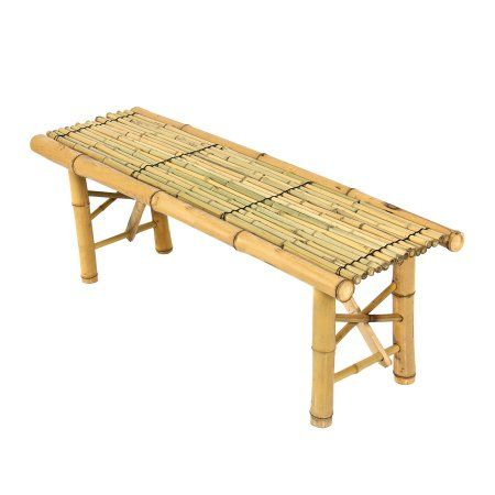 Bamboo Bench Tiki Tropical Coffee Table Decorative Bench Patio Room Bar Outdoor New