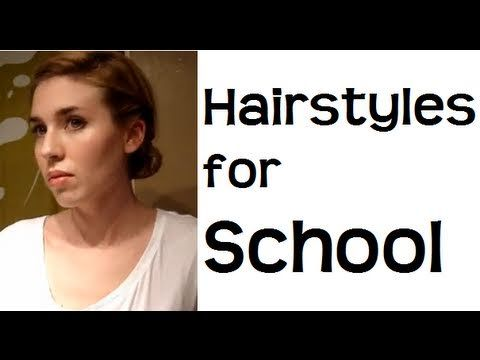 Easy Everyday School hairstyles for long hair & hairstyles for medium hair