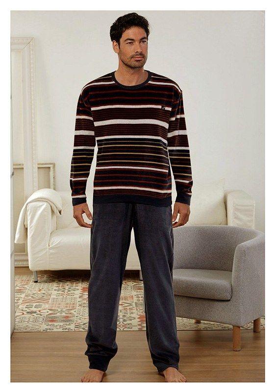¡Pijamas con puños Massana! - Extraordinaria calidad para estar por casa cómodo y abrigado o para la hora de irse a dormir - Mira más pijamas en http://www.varelaintimo.com/92-pijamas-de-manga-larga