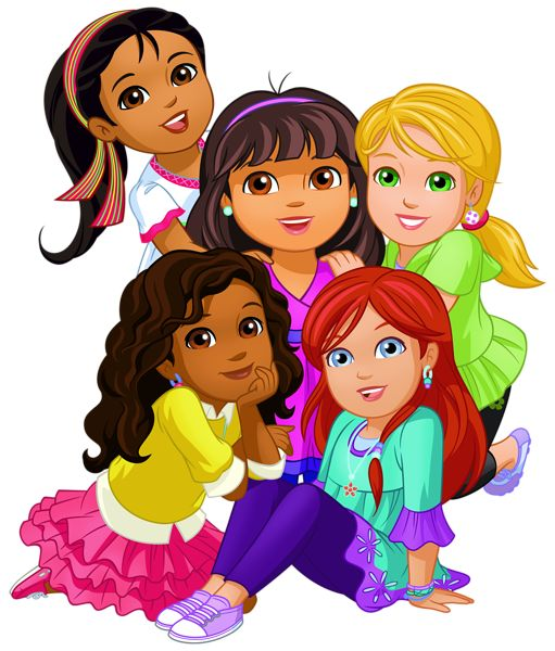 Dora and Friends PNG Clip Art Image