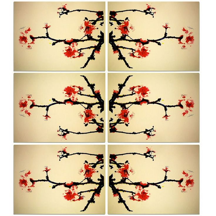 'Cherry Blossom Chinoiserie', screen print by Robyn Armstrong