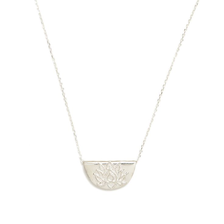 By Charlotte silver lotus necklace