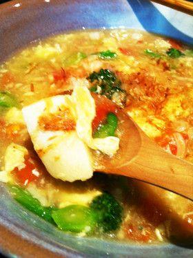 ぷるん!こうや豆腐のスープあんかけ