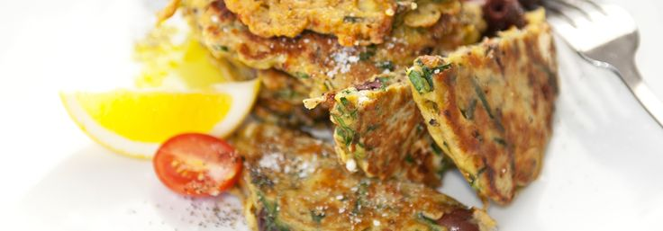 Fresh mussel, watercress and feta fritters