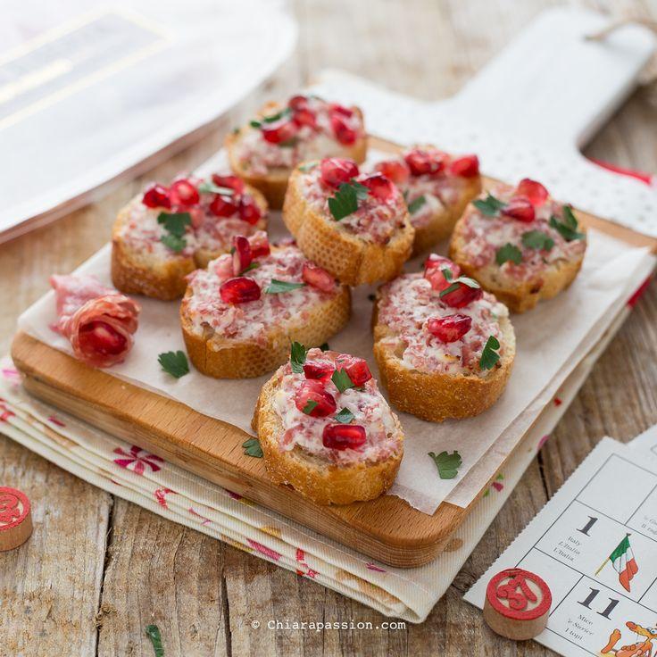 Crostini stracchino e salsiccia | Finger Food| Chiarapassion