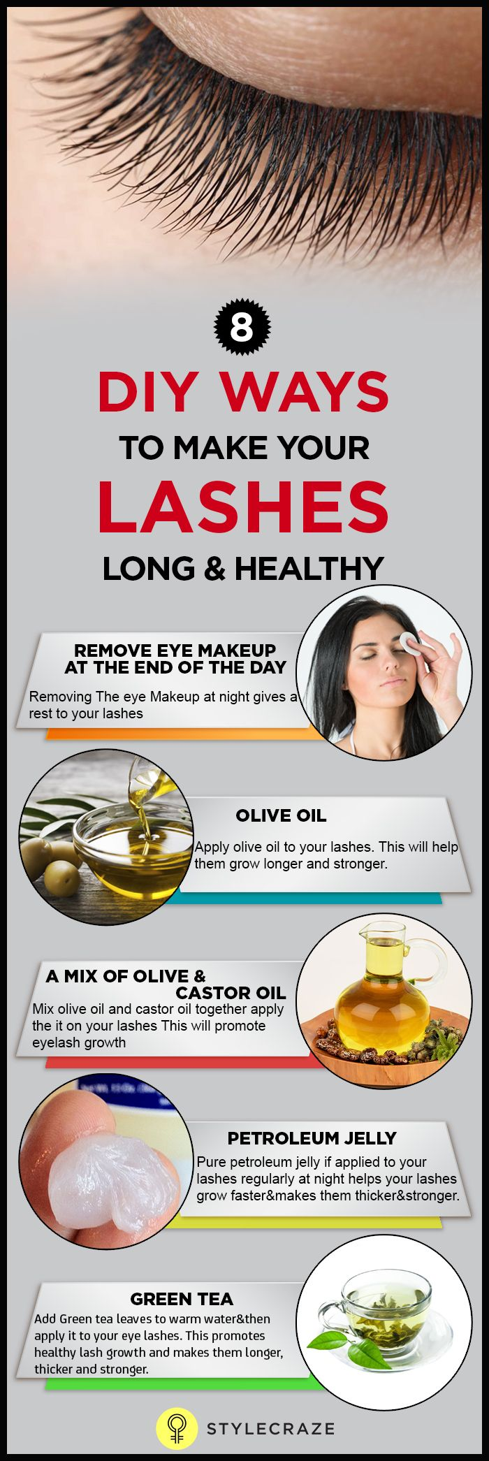 It is easy and you don't even need to work so much as you do for hair. Whenever, you are trying to embark on a lash care routine, remember that the results will not be visible till the next cycle of the eyelashes. So, you will have to wait patiently for two months before you see any difference in your eye lashes.