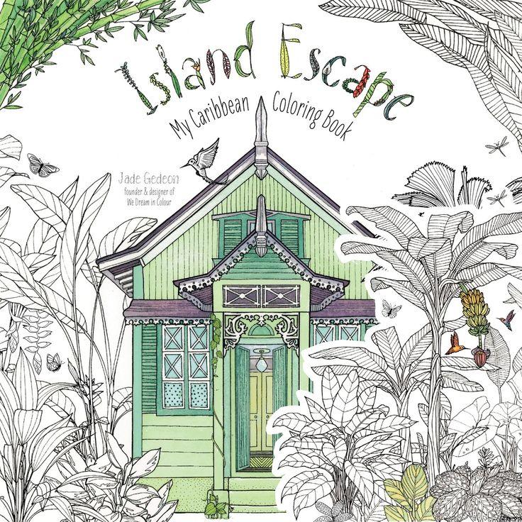 Island Escape My Caribbean Coloring Book Amazonde Jade Gedeon Fremdsprachige