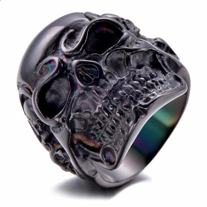 #Soldes #Bijoux #Cdiscount ❤ #Bague #Homme - Tête de mort - Bague Crâne Gothique pour #Motard #Biker en Acier Inoxydable plus.google.com/...