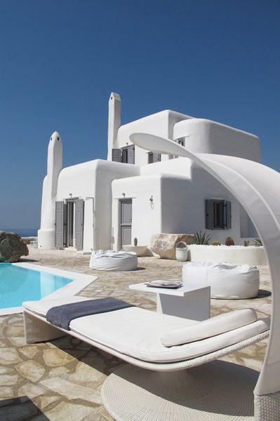 Maravillosa fotografía de esta villa en Grecia.#casas #verano