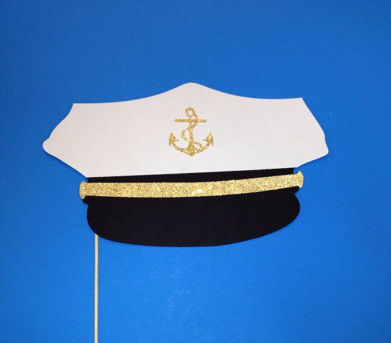 Photo Booth Prop  Navy / marinaio cappello con di CraftingbyDenise