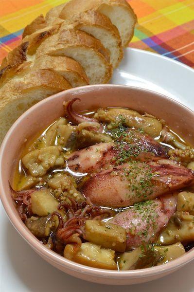 5分で出来ちゃう!スペインバルの味、やりいかとエリンギのアヒージョ ...
