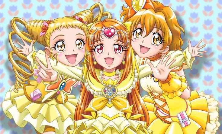 Lemonade (Urara), Muse (Ako) et Pine (Inori)