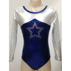 Long Sleeve Stars Gymnastics Leotard