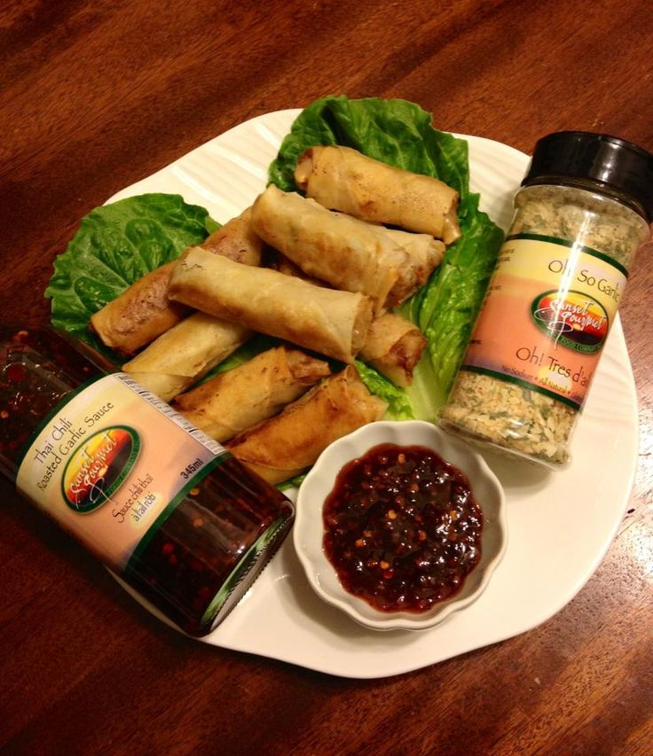 Fried Spring Rolls (Sunset Gourmet style)