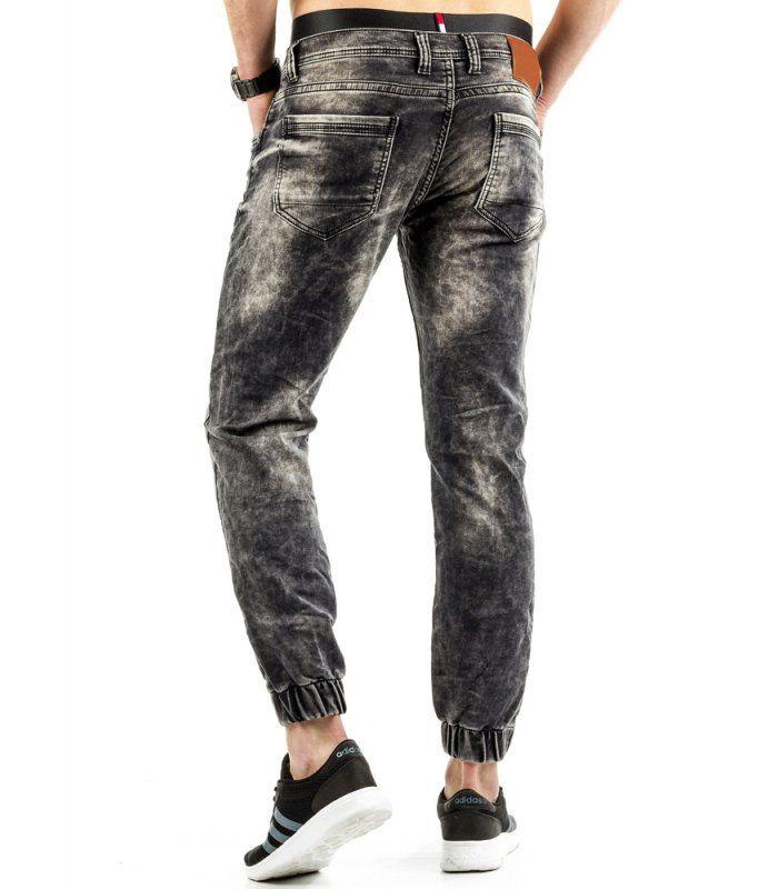 Pánske jeansové čierne nohavice