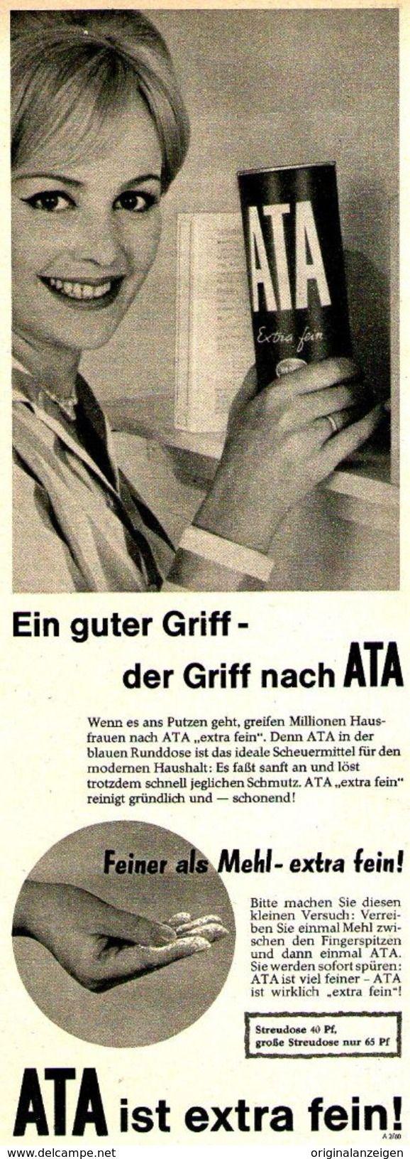 Original-Werbung/ Anzeige 1960 - ATA - Ca. 100 X 280 Mm - Werbung