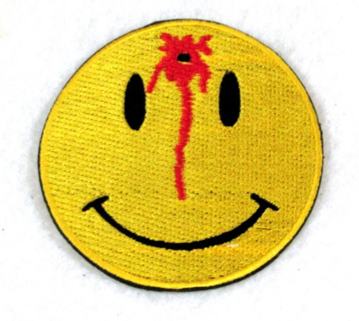 BULLS EYE HAPPY FACE Small Badge Patch for Biker Vest SB803