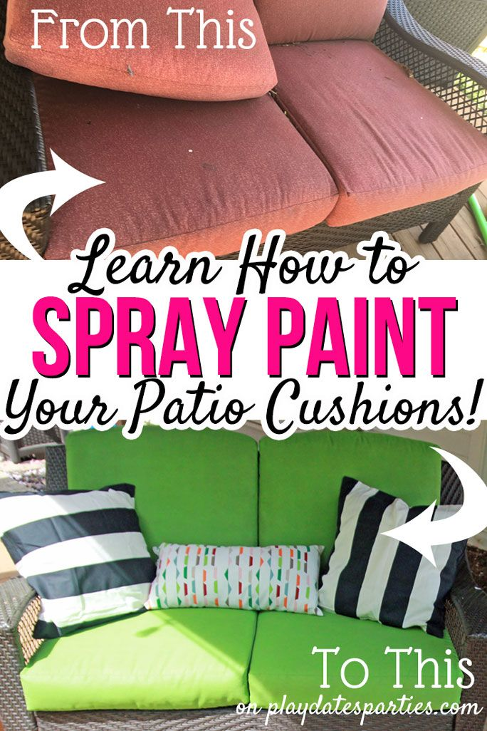 Yes I Actually Spray Painted My Patio Cushions Orc Week 5 Yard
