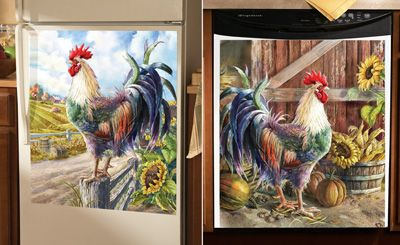 Farmyard Rooster Kitchen Decorative Magnets